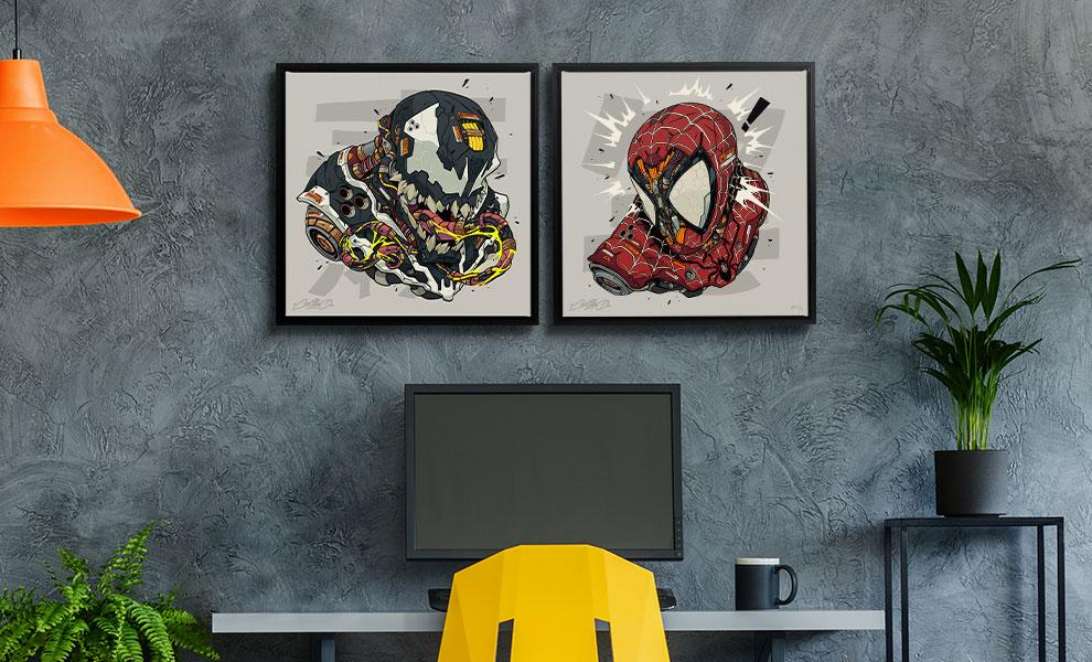 Spider-Man & Venom MECHASOUL Set Marvel Art Print