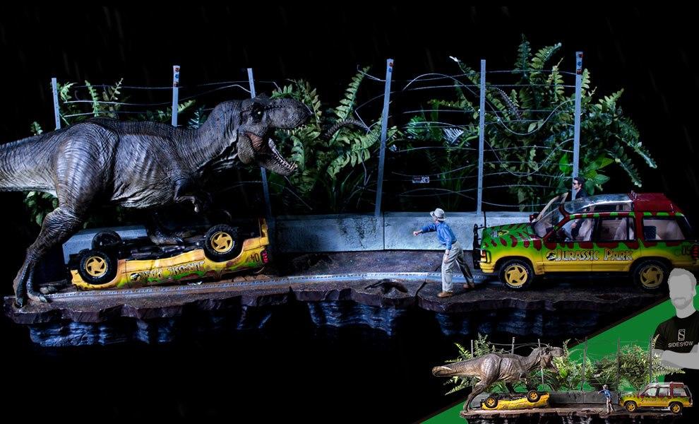 T-Rex Attack Set A and Set B Jurassic Park Collectible Set