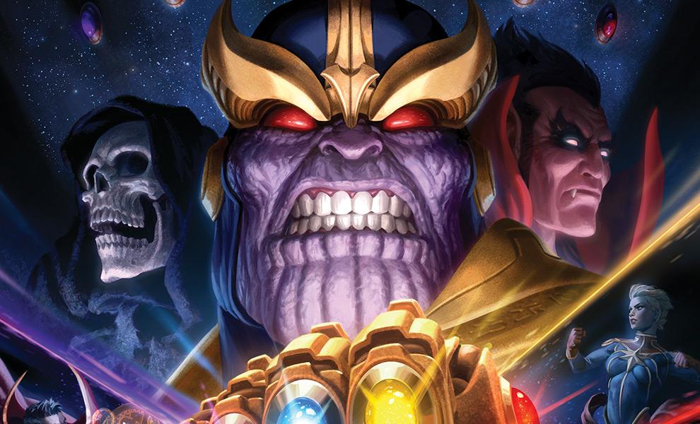 Thanos & Infinity Gauntlet Marvel Art Print