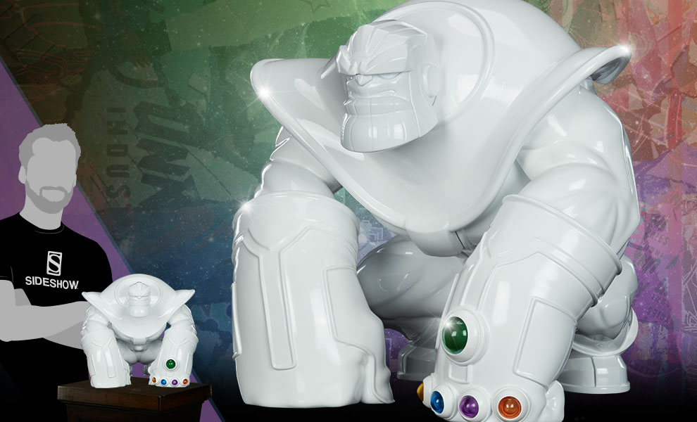 Thanos (Infinity-Sized) Gloss White Edition Marvel Designer Collectible Toy