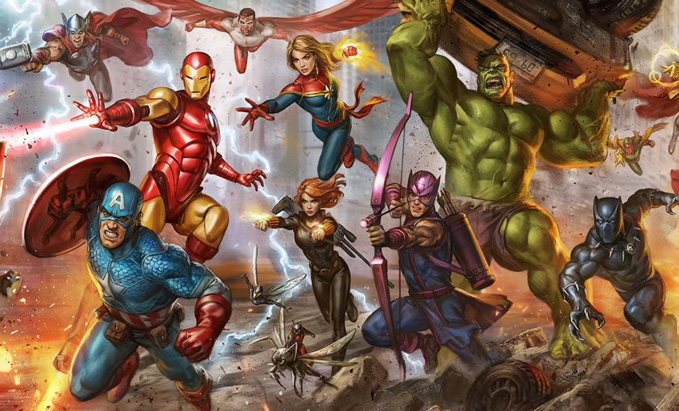 The Avengers: Earth's Mightiest Heroes Marvel Art Print