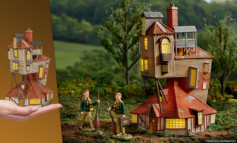 The Burrow Harry Potter Figurine