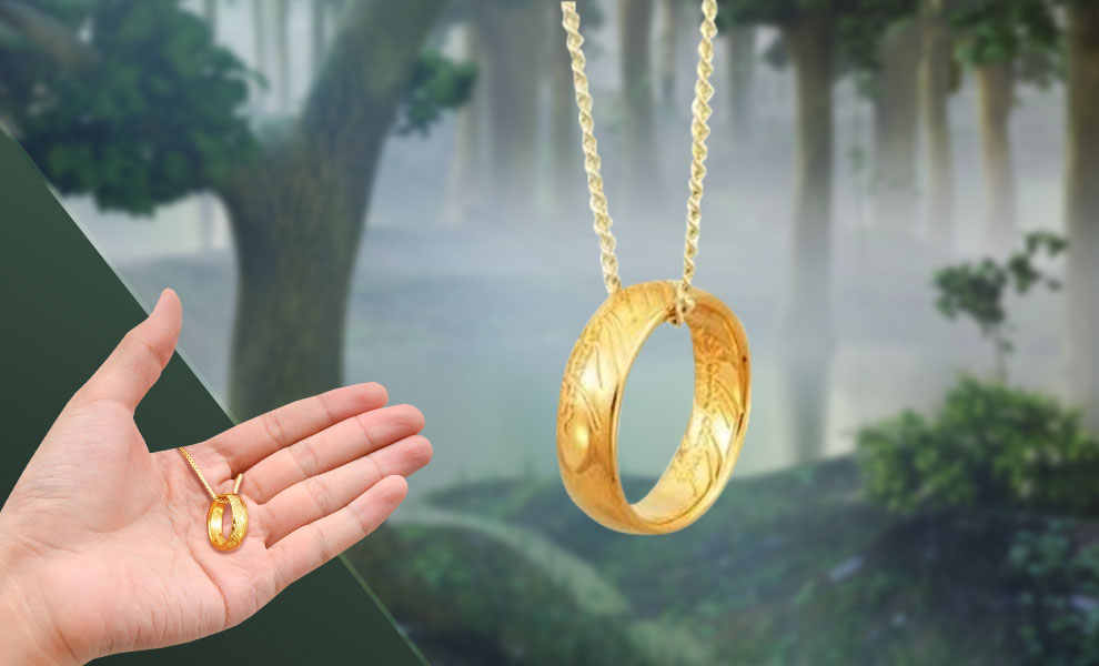 The ONE RING™ Necklace (GOLLUM™ Gold) The Lord of the Rings Jewelry