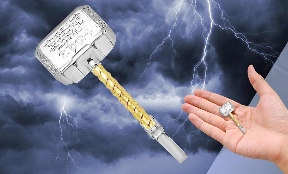 Thor's Hammer Mjolnir Necklace Marvel Jewelry