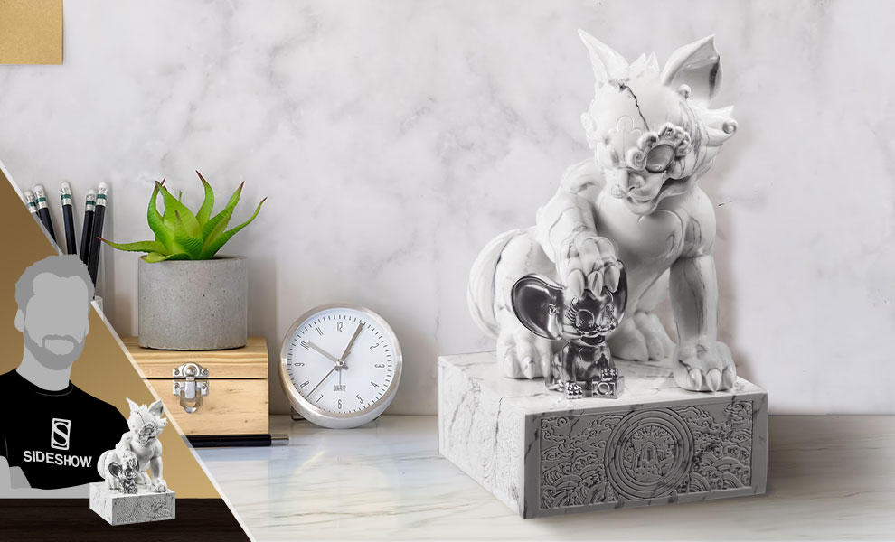 Tom and Jerry White Marble Tom and Jerry Statue