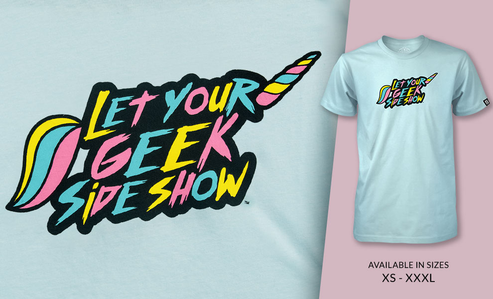 Unicorn Let your Geek Sideshow T-shirt Sideshow Collectibles Apparel