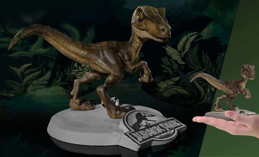 Velociraptor Mini Co Jurassic Park Collectible Figure