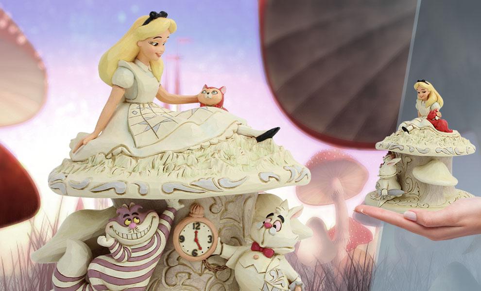 White Woodland Alice in Wonderland Figurine