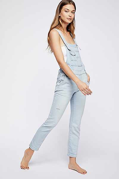 Free People Brady Washed Denim Overall