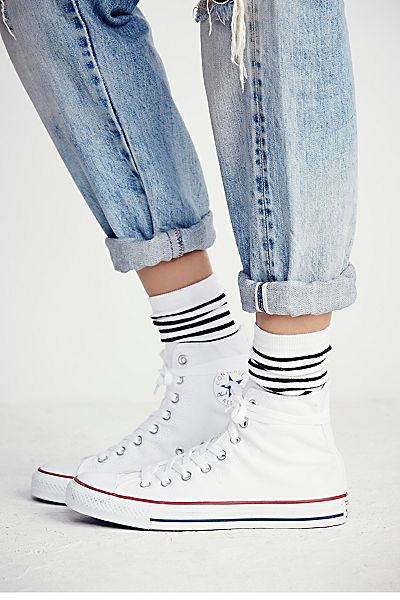 Converse Charlie Hi Top White Sneakers
