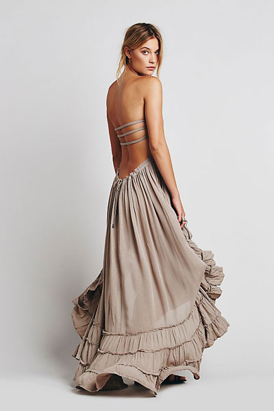 "Free People Maxi Dress ""Extratropical Taupe"""