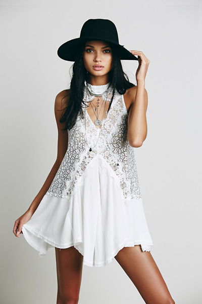 Free People Cross My Heart Lace Tunic