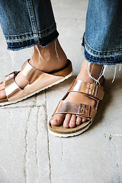Arizona Metallic Birkenstock Sandals