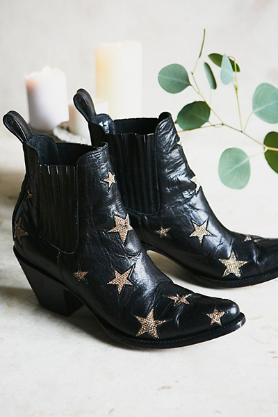 Mexicana Circus Stars Black Western Ankle Boots