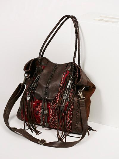 Free People Chocolate Brown Canyonland Tote Bag