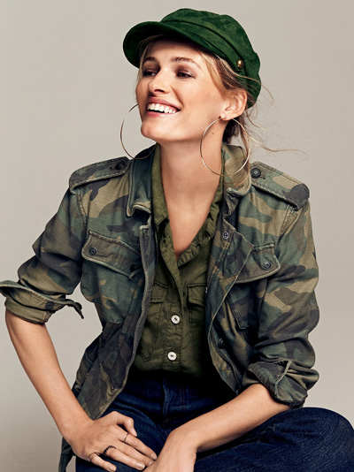 Free People Not Your Brother's Surplus Camouflage Military Jacket