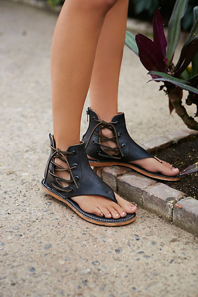 Baske Lace Up Leather Sandal