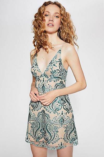 "Free People Bodycon Mini Dress ""Night Shimmers"""