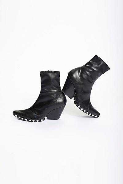 Jeffrey Campbell + Free People Jagger Black Ankle Boot