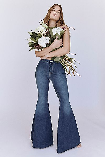 "Free People Flare Jeans ""Just Float On Jericho Blue"""