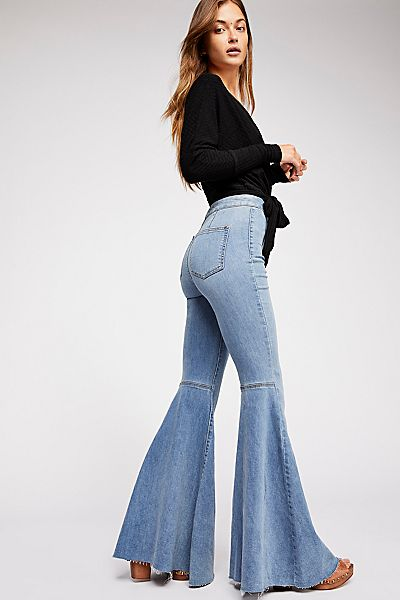 """Free People '70s Flare Jeans """"Just Float On"""""""
