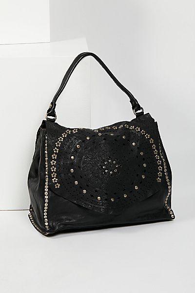 """Campomaggi Boho Embellished Satchel Bag """"Ibiza"""""""