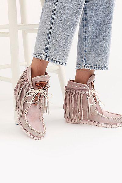 """El Vaquero Moccasin Boots """"Cipria Roseland"""""""