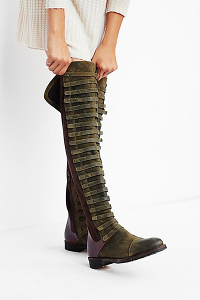 Free People FP Collection Black Forest Over-The-Knee Boot