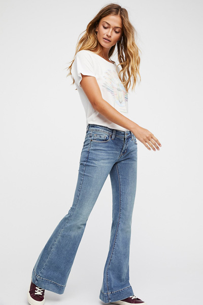We The Free People Low Tide Flare Jeans