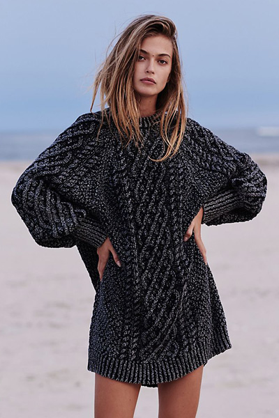 Free People Knit Sweater Dress