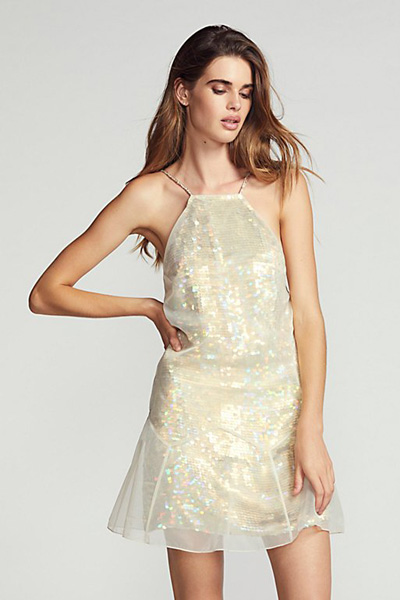 Free People Ghost Sequin Party Mini Dress