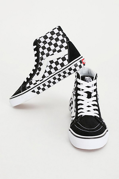 Vans SK8-Hi Checker Hi Top Sneakers