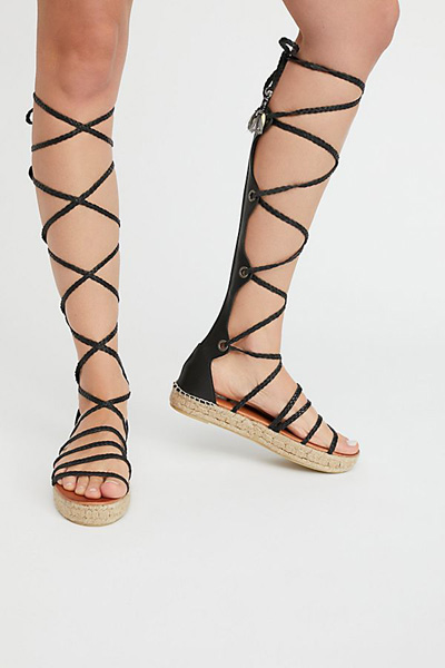Free People FP Collection Tall Gladiator Sandals