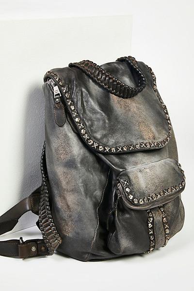 Giorgio Brato Hayworth Distressed Leather Backpack