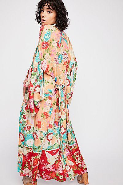 "Spell Bohemian Maxi Kimono ""Delilah Patchwork"""