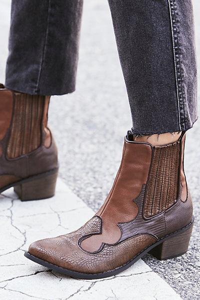 Matisse Vegan Cavalier Brown Western Boot
