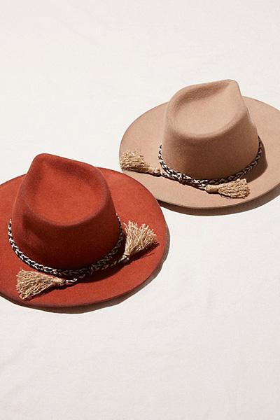Free People Morrisey Distressed Felt Hat
