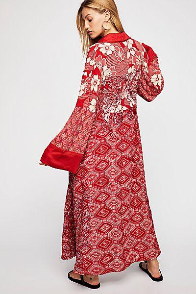 "Free People Bohemian Kimono Jacket ""Bashy Vibes"""