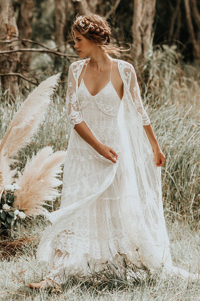 "Spell Bohemian Wedding Dress ""Canyon Moon"" Gown & Duster"