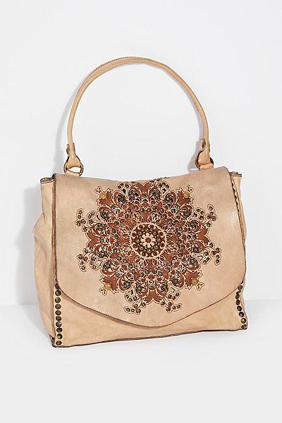 """Campomaggi Boho Satchel Bag """"Brescia"""" Embellished"""