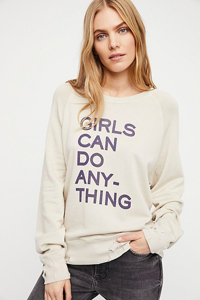 Zadig & Voltaire Girls Can Do Anything Pullover