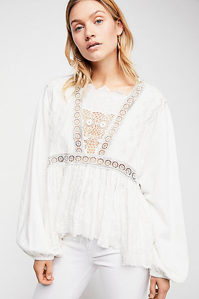 Free People Victoria Boho Pullover Top