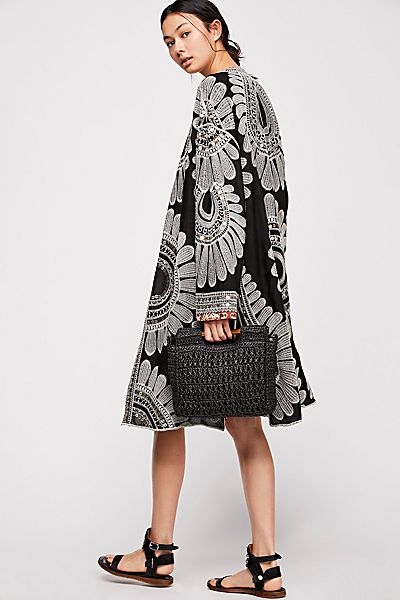 Free People Lisbon Embroidered Boho Duster