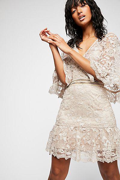"""Stevie May Boho Lace Mini Dress """"Resplendent"""""""