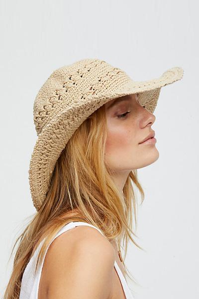 Free People Crochet Knit Bucket Hat