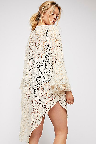 """Free People Boho Lace Robe """"Move Over"""""""