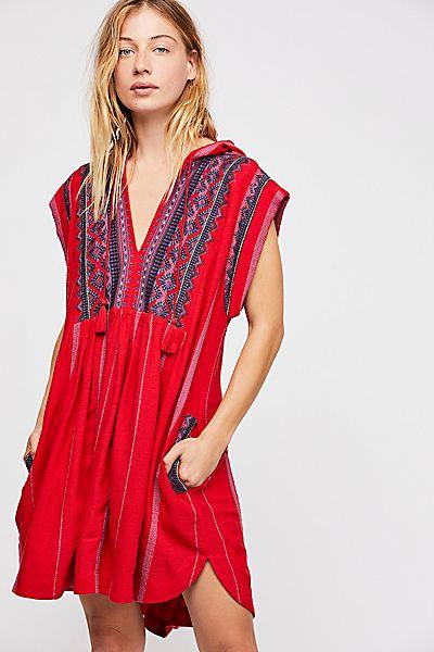 "Free People Boho Mini Dress ""Drift Away"" Embroidered Tunic"