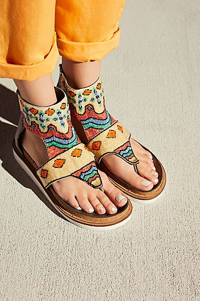 Free People Tahiti Beaded Boho Sandal