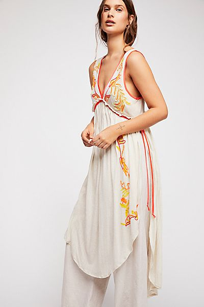 "Free People Embroidered Boho Top ""Summer Lovin' Tunic"""