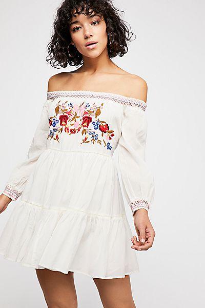"""Free People Boho Mini Dress """"Sunbeams"""""""